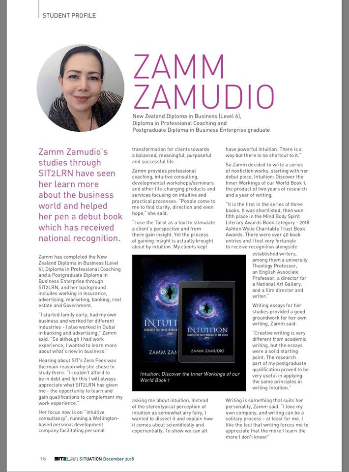 SIT2LRN SITuation Magazine December 2018 Zamm Zamudo